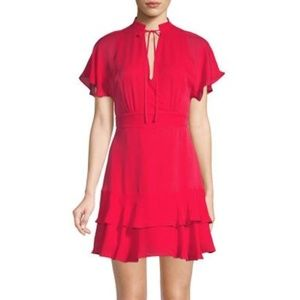 Parker Silk Natalie Dress in Strawberry | Size 10